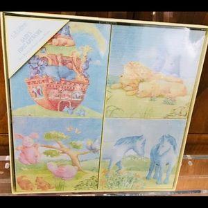New C.R. Gibson Noah's Ark Canvas Prints Four